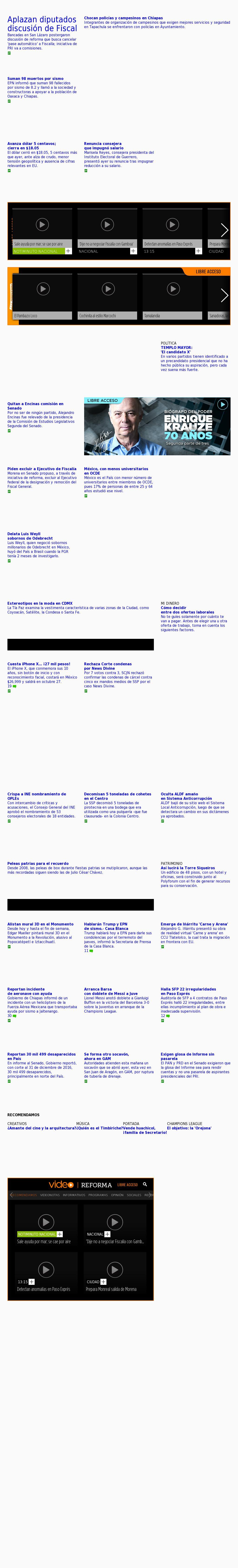 Reforma.com at Wednesday Sept. 13, 2017, 12:15 a.m. UTC