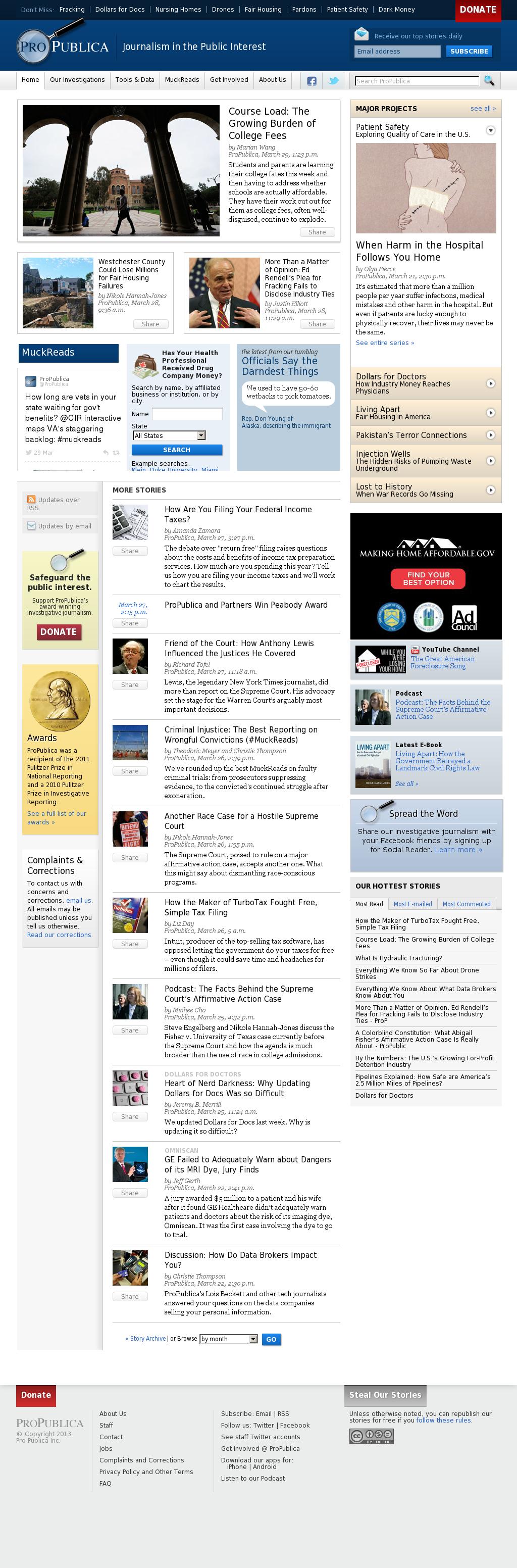 ProPublica at Monday April 1, 2013, 8:18 a.m. UTC