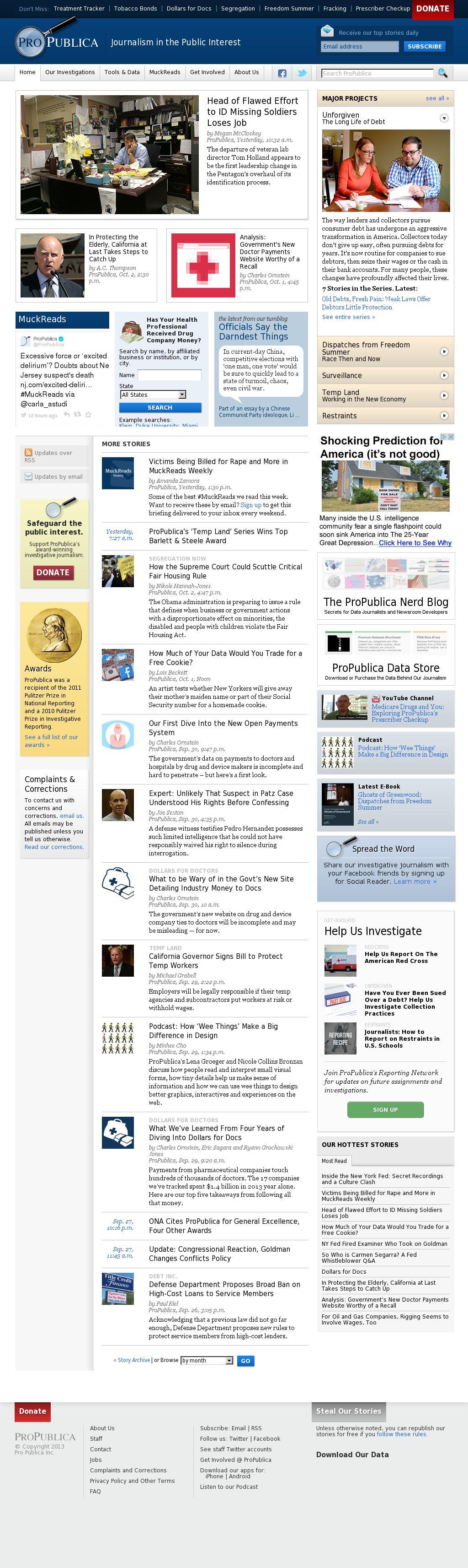 ProPublica at Saturday Oct. 4, 2014, 9:14 a.m. UTC