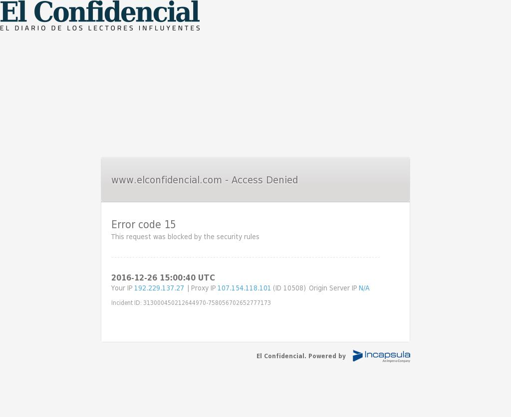 El Confidencial at Monday Dec. 26, 2016, 3:02 p.m. UTC