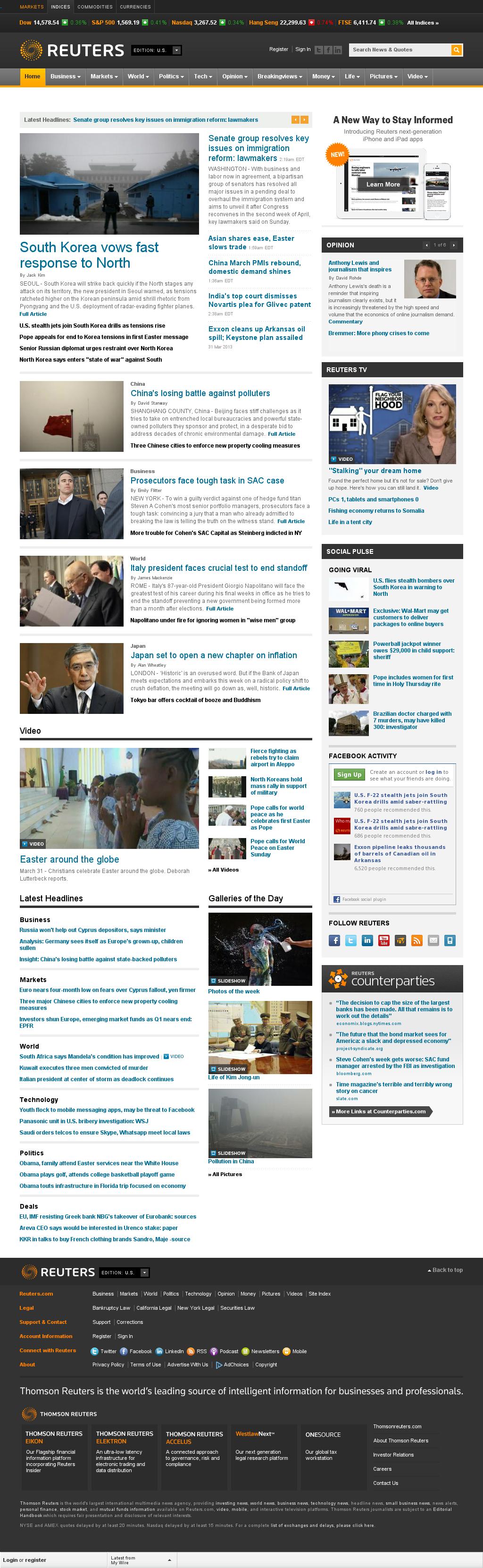 Reuters at Monday April 1, 2013, 8:18 a.m. UTC