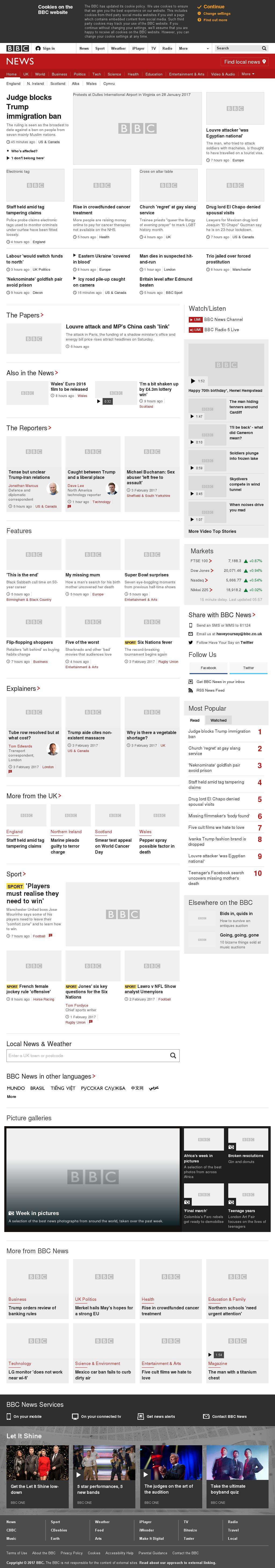 BBC at Saturday Feb. 4, 2017, 6 a.m. UTC