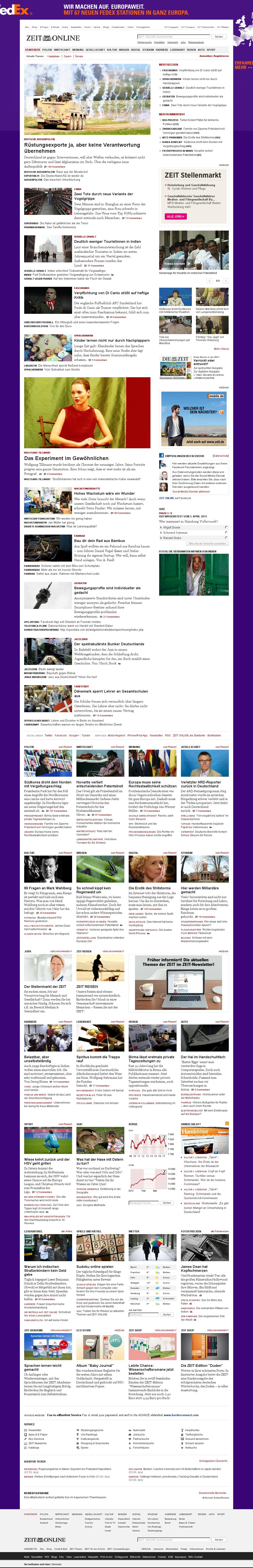 Zeit Online at Tuesday April 2, 2013, 2:26 a.m. UTC