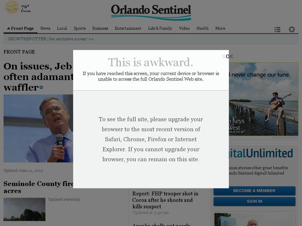 Orlando Sentinel at Monday June 15, 2015, 8:22 a.m. UTC