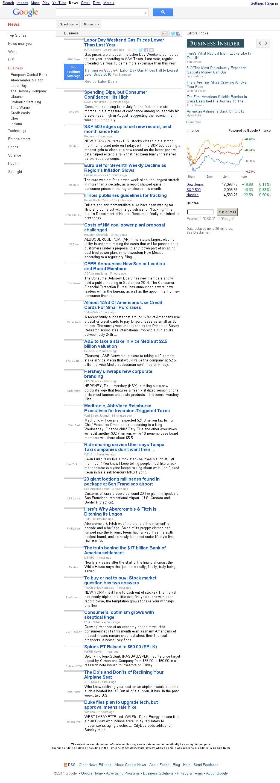 Google News: Business at Friday Aug. 29, 2014, 10:06 p.m. UTC