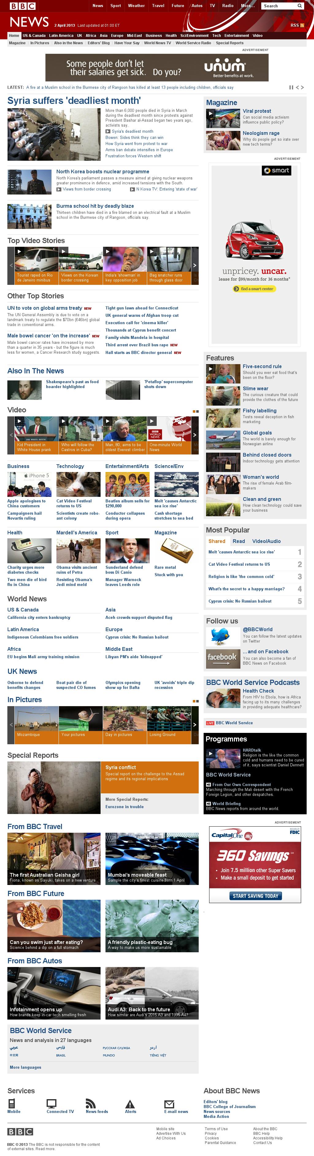 BBC at Tuesday April 2, 2013, 4:01 a.m. UTC